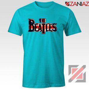 The Beatles Logo T Shirt The Beatles Rock Band T-Shirt Size S-3XL Light Blue