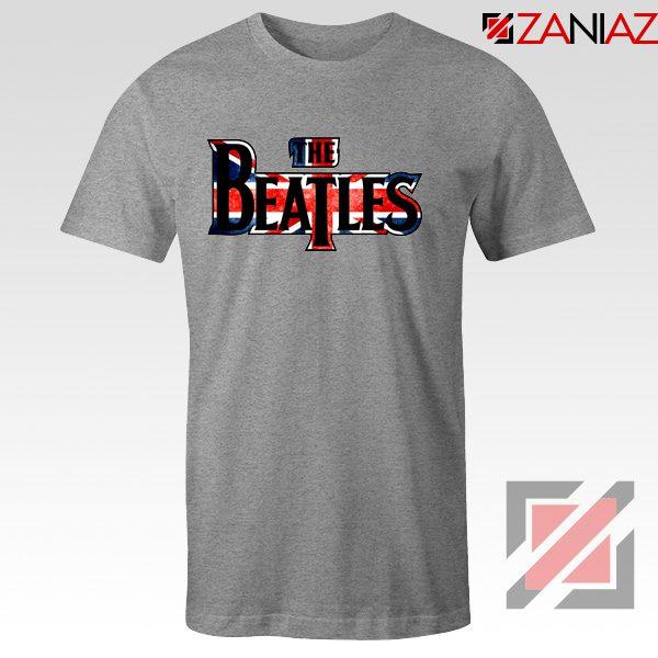 The Beatles Logo T Shirt The Beatles Rock Band T-Shirt Size S-3XL Sport Grey