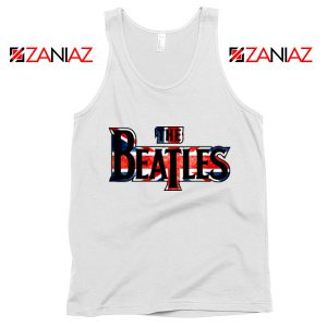 The Beatles Logo Tank Top The Beatles Rock Band Tank Top Size S-3XL White