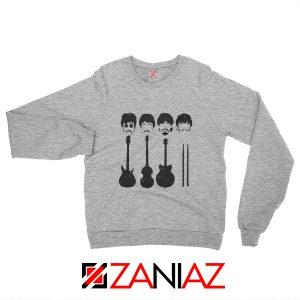 The Beatles Sweatshirt The Beatles Sweatshirt Mens Size S-2XL Sport Grey