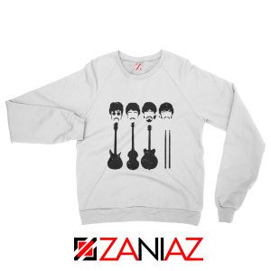 The Beatles Sweatshirt The Beatles Sweatshirt Mens Size S-2XL White