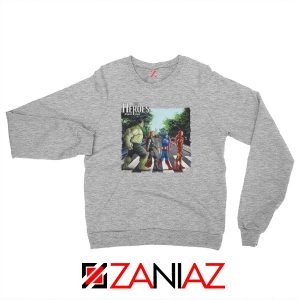 The Heroes Avenger Sweatshirt Marvel Best Sweatshirt Size S-2XL Sport Grey