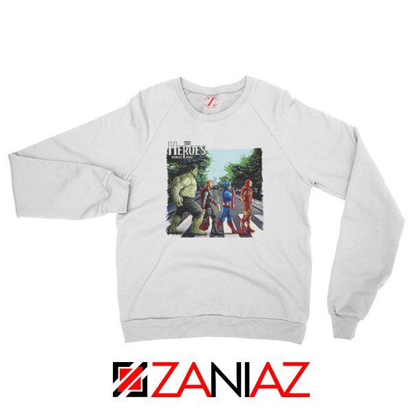 The Heroes Avenger Sweatshirt Marvel Best Sweatshirt Size S-2XL White