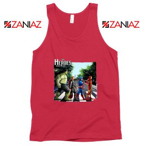 The Heroes Avenger Tank Tops Marvel Best Tank Tops Size S-3XL Red