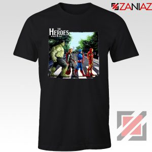 The Heroes Avenger Tee Shirts Marvel Studios Best T-Shirts Size S-3XL Black