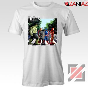 The Heroes Avenger Tee Shirts Marvel Studios Best T-Shirts Size S-3XL White
