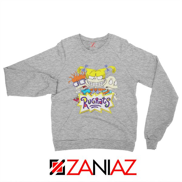 The Rugrats Sweatshirt Nickelodeon Rugrats Best Sweatshirt Size S-2XL Grey