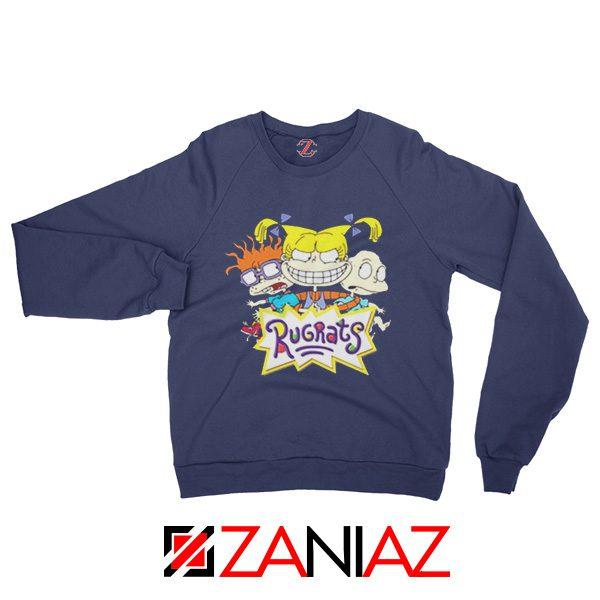 The Rugrats Sweatshirt Nickelodeon Rugrats Best Sweatshirt Size S-2XL Navy