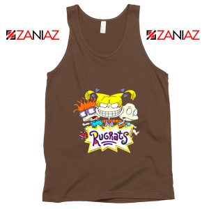 The Rugrats Tank Top Nickelodeon Rugrats Tank Top Size S-3XL Brown