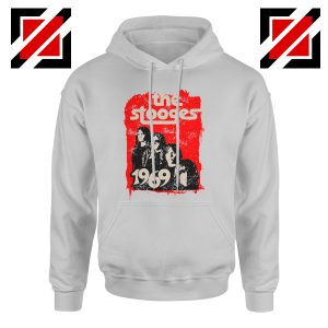 The Stooges Hoodie American Music Rock Cheap Hoodie Size S-2XL Sport Grey