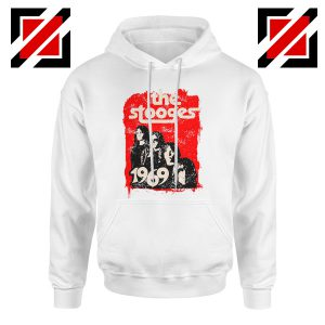 The Stooges Hoodie American Music Rock Cheap Hoodie Size S-2XL White