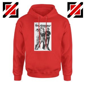 The Stooges Iggy Pop American Music Band Cheap Best Hoodie Red