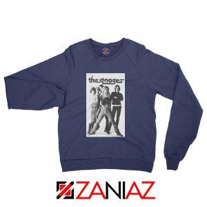 The Stooges Iggy Pop American Music Band Cheap Best Sweatshirt Navy Blue