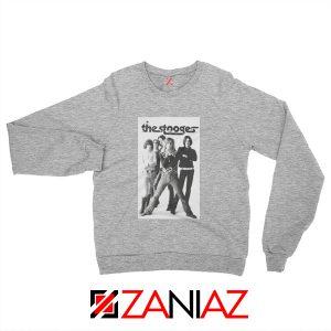The Stooges Iggy Pop American Music Band Cheap Best Sweatshirt Sport Grey