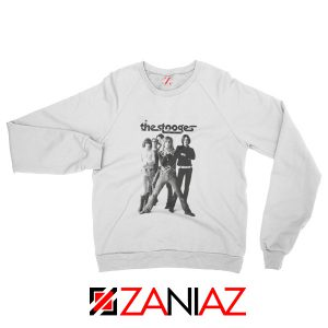 The Stooges Iggy Pop American Music Band Cheap Best Sweatshirt White