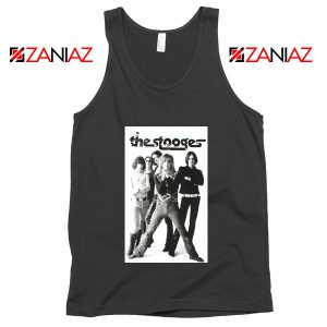 The Stooges Iggy Pop American Music Band Cheap Best Tank Top Black