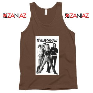 The Stooges Iggy Pop American Music Band Cheap Best Tank Top Brown