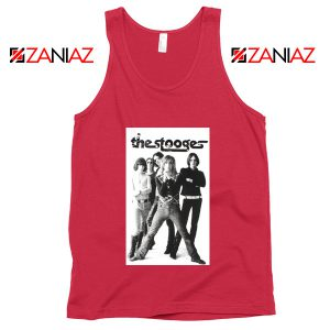 The Stooges Iggy Pop American Music Band Cheap Best Tank Top Red