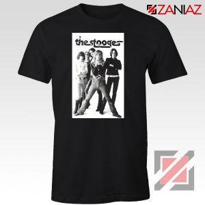 The Stooges Iggy Pop American Music Band Cheap Best Tee Shirt Black