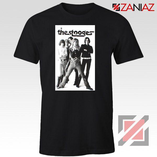 The Stooges Iggy Pop American Music Band Cheap Best Tee Shirt Black