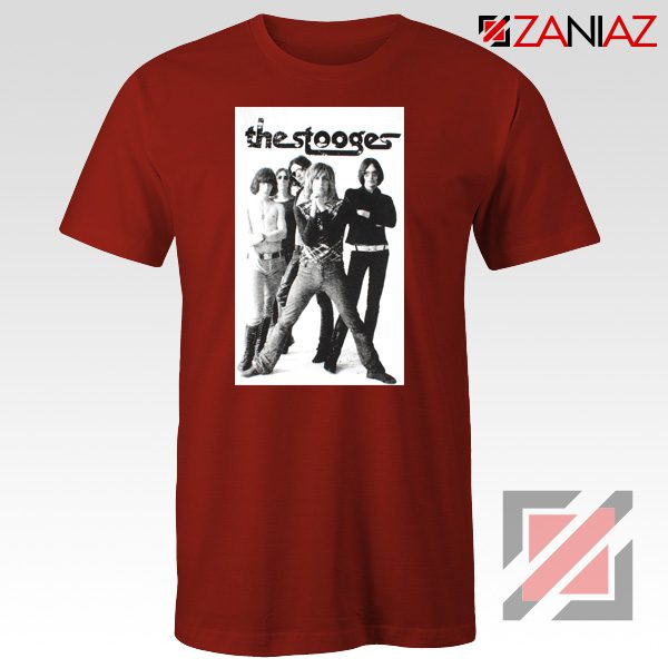 The Stooges Iggy Pop American Music Band Cheap Best Tee Shirt Red