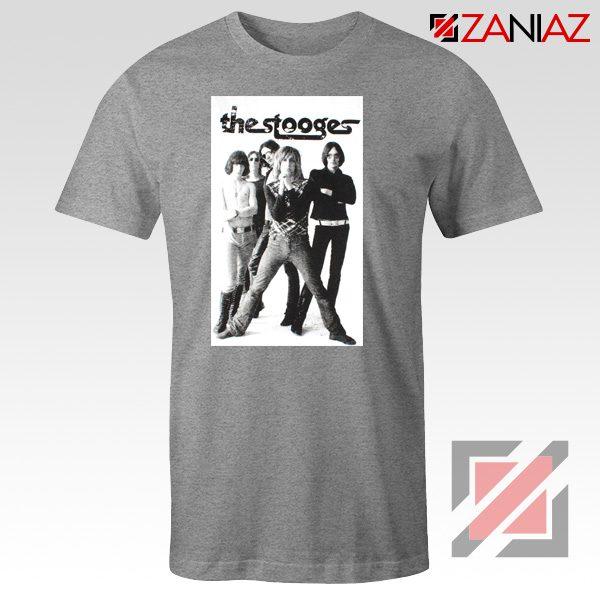 The Stooges Iggy Pop American Music Band Cheap Best Tee Shirt Sport Grey