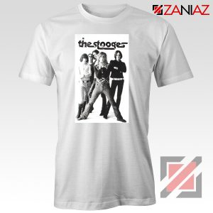 The Stooges Iggy Pop American Music Band Cheap Best Tee Shirt White