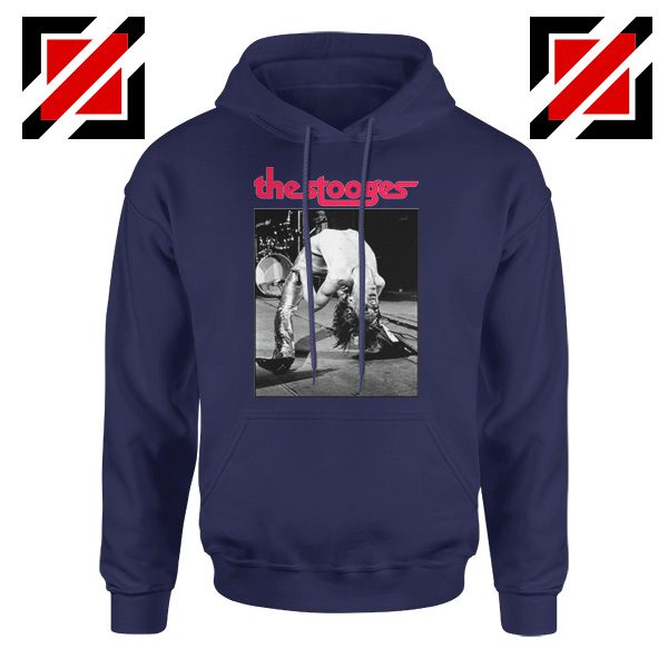 The Stooges Performing Men Hoodie American Music Concert Hoodie Navy