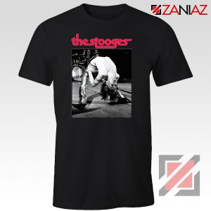 The Stooges Performing Men T-shirt American Music Concert Tee Shirt Black