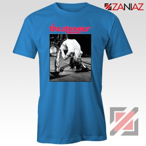 The Stooges Performing Men T-shirt American Music Concert Tee Shirt Blue