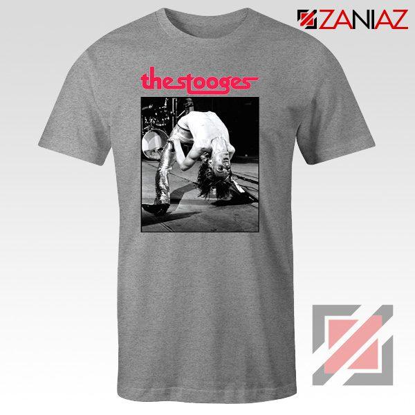 The Stooges Performing Men T-shirt American Music Concert Tee Shirt Sport Grey