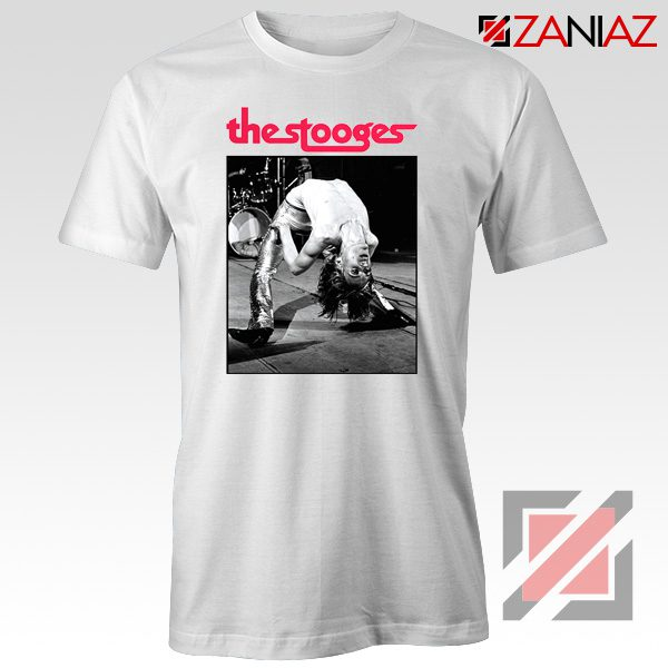 The Stooges Performing Men T-shirt American Music Concert Tee Shirt White