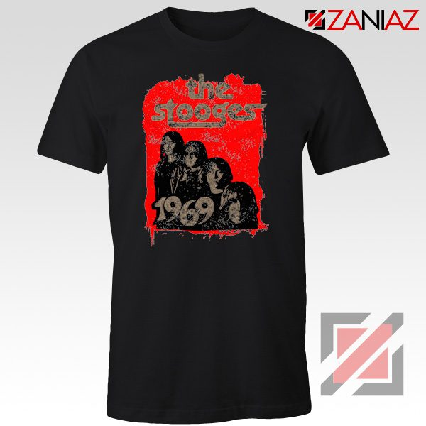 The Stooges Tee Shirt American Rock Band Best T-shirt Size S-3XL Black