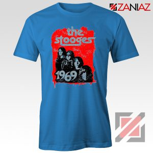 The Stooges Tee Shirt American Rock Band Best T-shirt Size S-3XL Blue