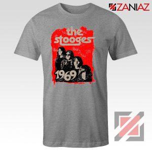 The Stooges Tee Shirt American Rock Band Best T-shirt Size S-3XL Sport Grey