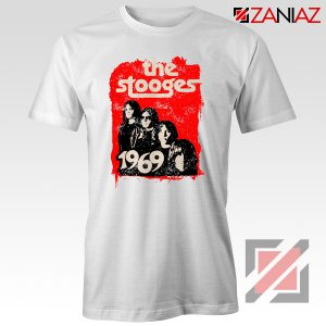 The Stooges Tee Shirt American Rock Band Best T-shirt Size S-3XL White