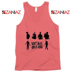 The Walking Dead Cheap Tank Top Rick Negan Daryl Zombies Tank Top Coral
