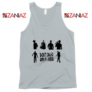 The Walking Dead Cheap Tank Top Rick Negan Daryl Zombies Tank Top Silver