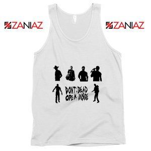 The Walking Dead Cheap Tank Top Rick Negan Daryl Zombies Tank Top White