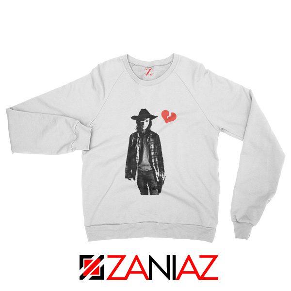 The Walking Dead Sweatshirt Carl Grimes Sweatshirt Cheap Sweatshirt White