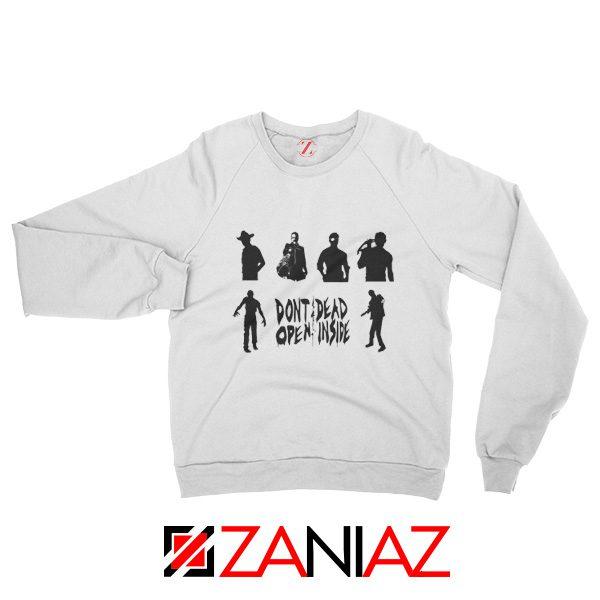 The Walking Dead TV Series Sweatshirt Rick Negan Best Sweatshirt White
