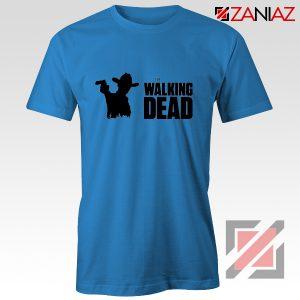 The Walking Dead Tee Shirt American Horror TV Series Best Tshirt Blue