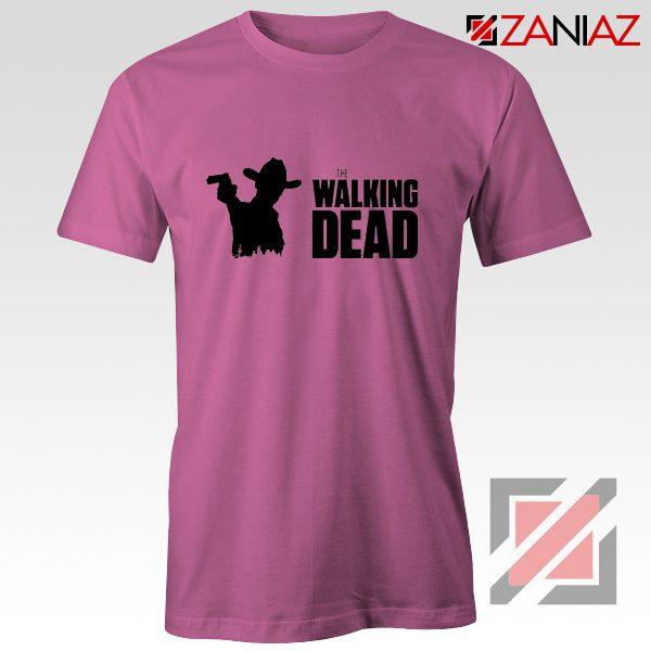 The Walking Dead Tee Shirt American Horror TV Series Best Tshirt Pink
