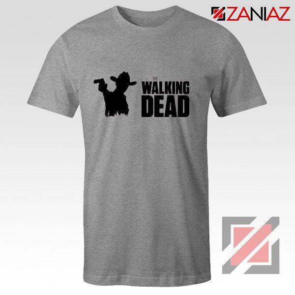 The Walking Dead Tee Shirt American Horror TV Series Best Tshirt Sport Grey