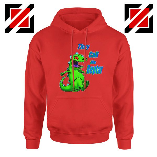 They Call Me Reptar Hoodie Reptar Rugrats Hoodie Size S-2XL Red