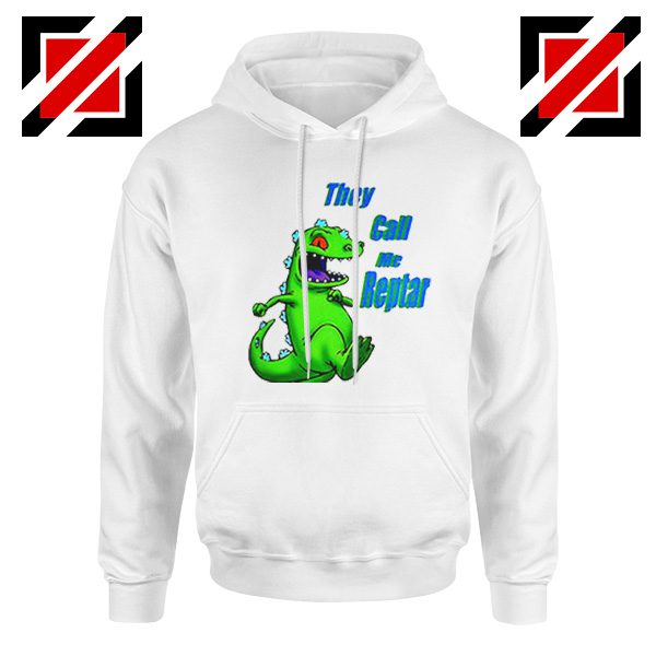 They Call Me Reptar Hoodie Reptar Rugrats Hoodie Size S-2XL White