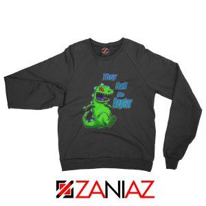 They Call Me Reptar Sweatshirt Reptar Rugrats Sweatshirt Size S-2XL Black
