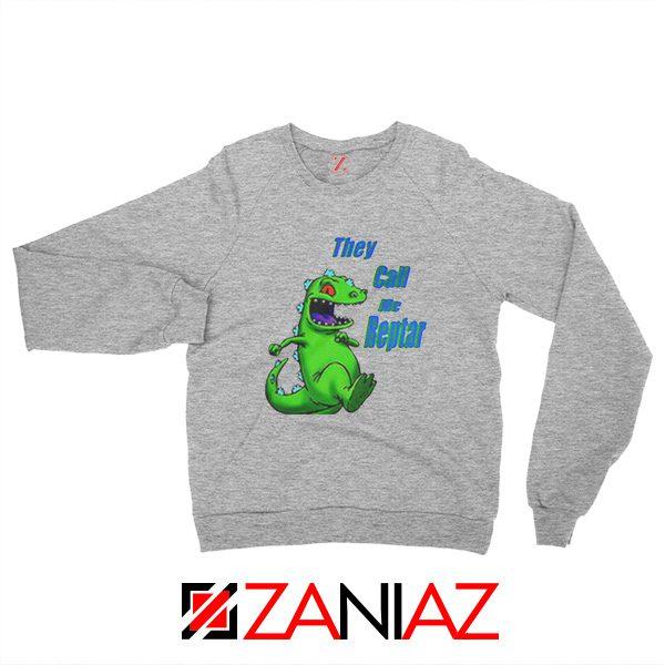 They Call Me Reptar Sweatshirt Reptar Rugrats Sweatshirt Size S-2XL Sport Grey