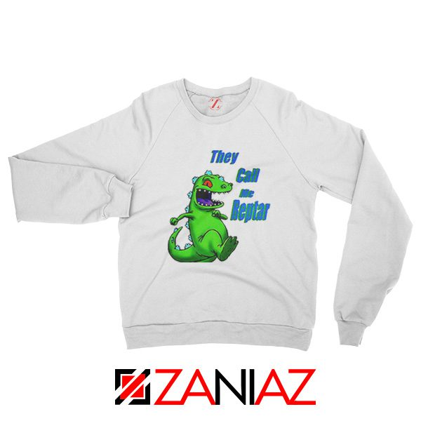 They Call Me Reptar Sweatshirt Reptar Rugrats Sweatshirt Size S-2XL White