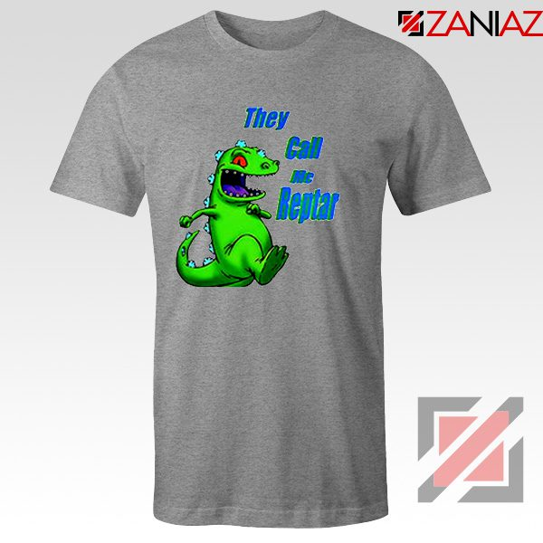 They Call Me Reptar T-Shirt Reptar Rugrats T-Shirt Size S-3XL Grey